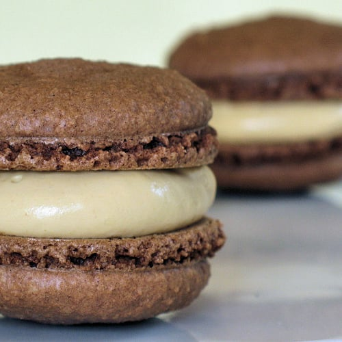 Yummy Link: Chocolate Macaroons With Caramel Cream