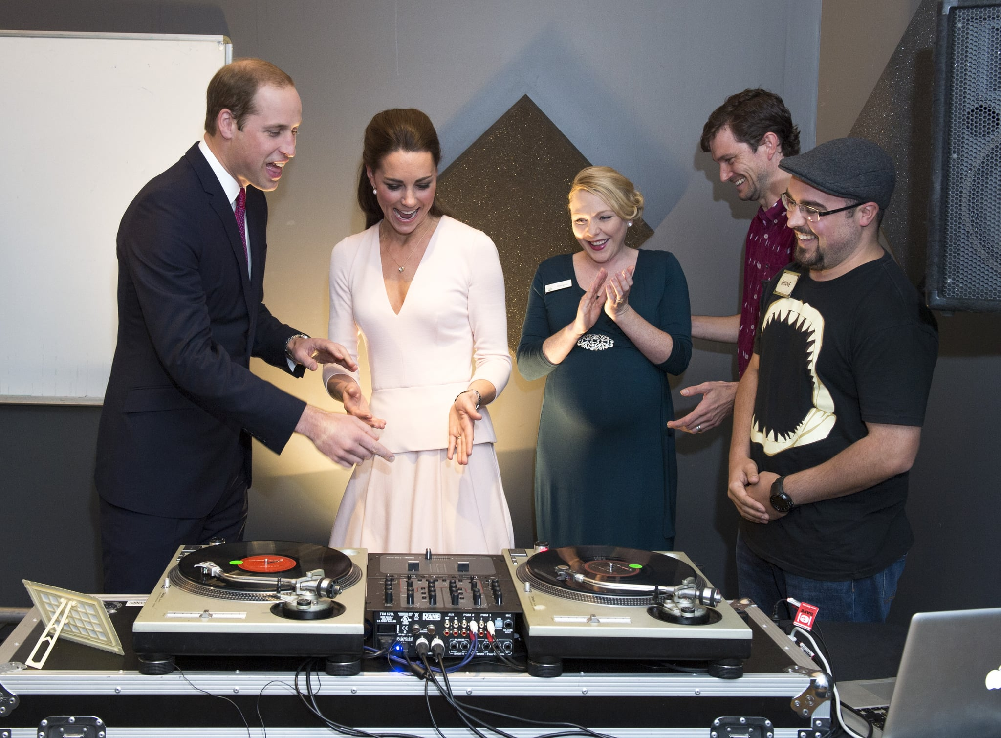 Kate put her DJ skills on display when she and William stopped by a youth center in Australia in April 2014.