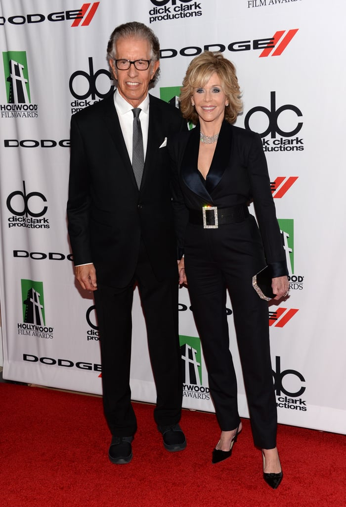 Jane Fonda and producer Richard Perry were all smiles on the Hollywood Film Awards red carpet.