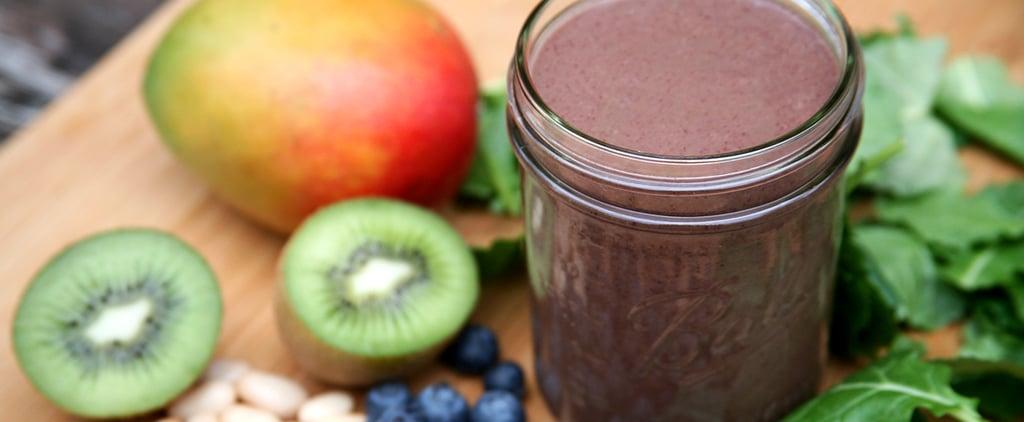 360-Calorie Blueberry-Mango-Kiwi Smoothie For Lovelier Locks