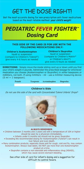 Medicine Dosing Charts for Children