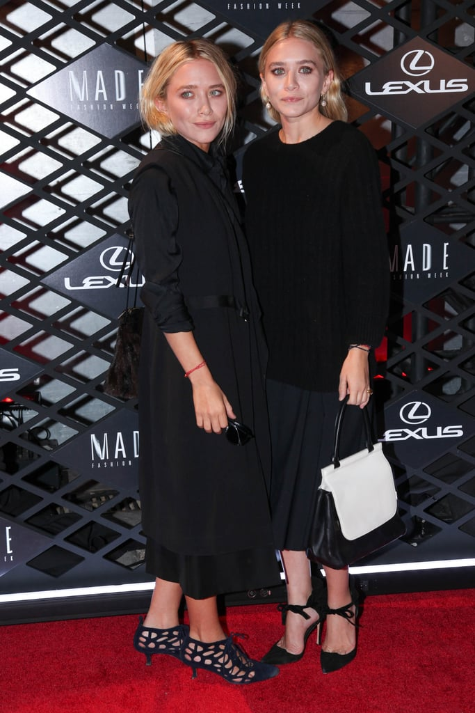 Mary-Kate and Ashley Olsen walked the red carpet together at the Lexus Design Disrupted event on Thursday night.