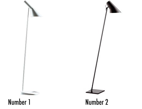 Less or More: Conical Leaning Floor Lamps