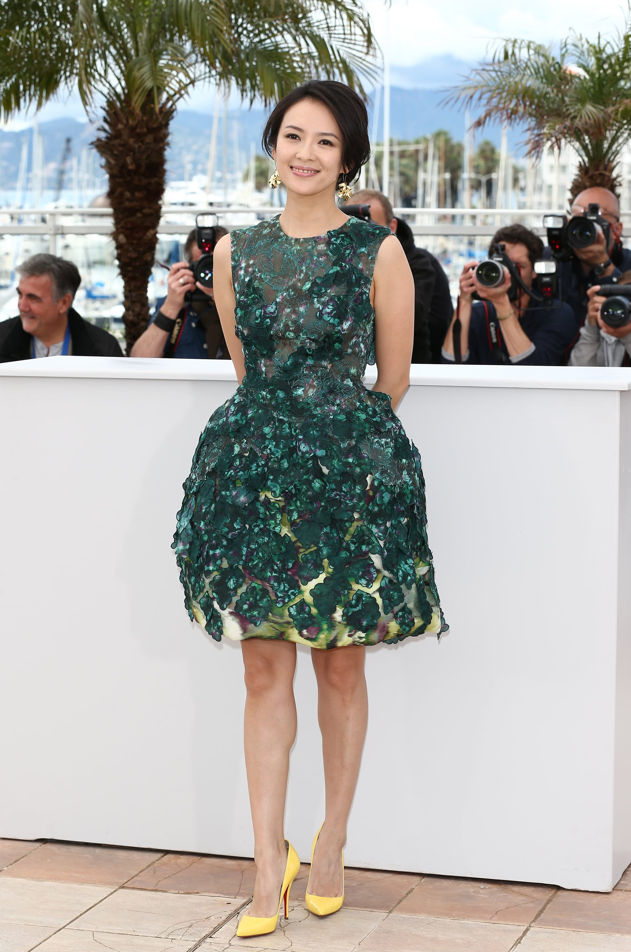 Zhang Ziyi wore a green dress to the Thursday photocall for  Un Certain Regard at the Cannes Film Festival.