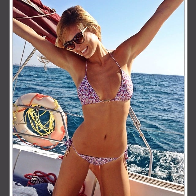 Bar Refaeli logged some bikini time on a boat in her native Israel. Source: Instagram user barrefaeli