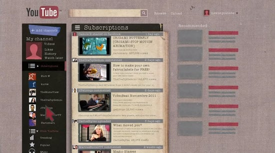 YouTube Gets a Facelift