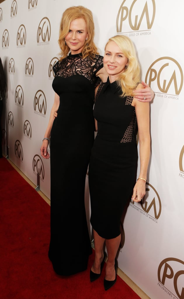Nicole Kidman opted for a L'Wren Scott column gown and Fred Leighton jewels, while Naomi Watts chose a fitted Victoria Beckham dress and Rupert Sanderson pumps.