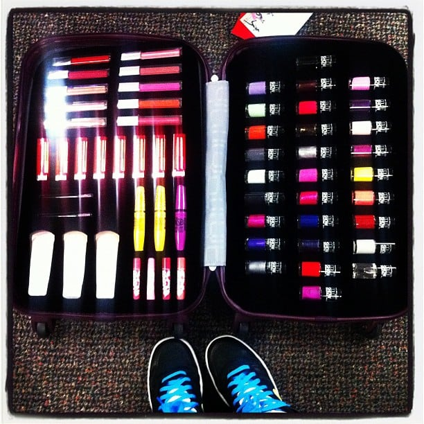 A suitcase full of Maybelline NY goodies — best damn luggage we've ever seen!