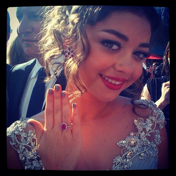 Sarah Hyland showed off a fancy ring. Source: Instagram user instylemagazine