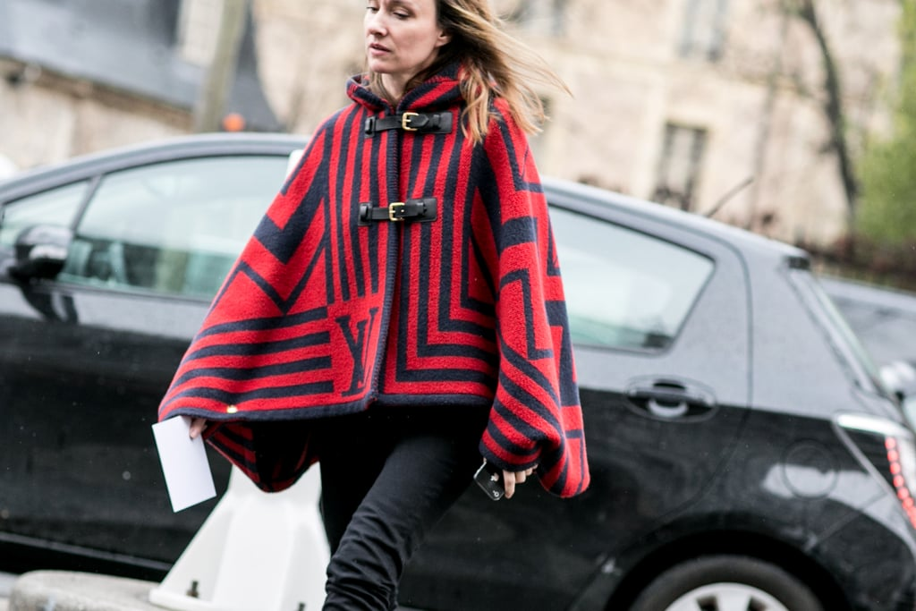 If you ever doubted how you'd wear a statement coat, this just might convince you that you need not worry: it makes the outfit.