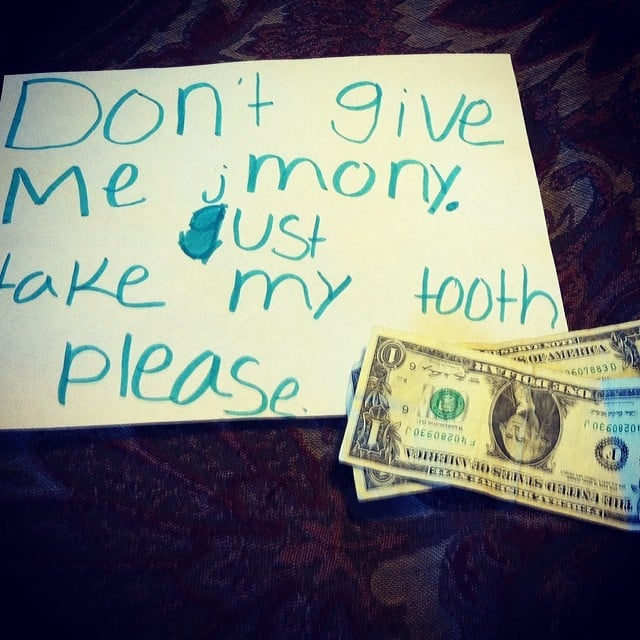 The kid who just wants the tooth gone.