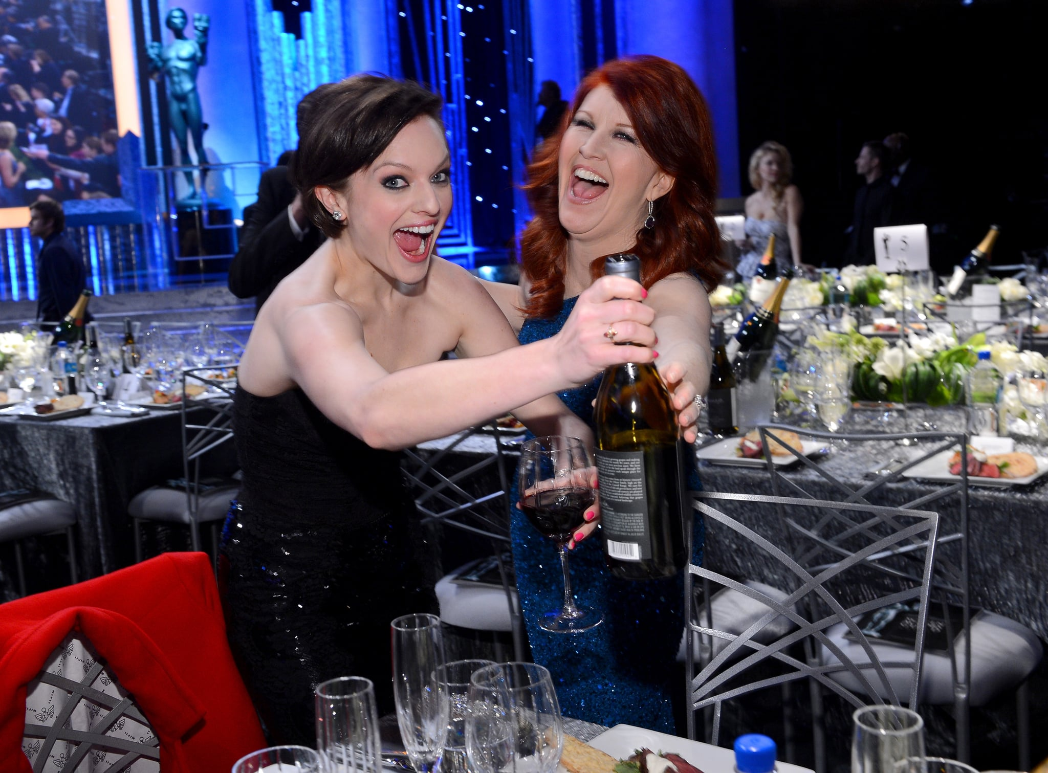 Elisabeth Moss and Kate Flannery