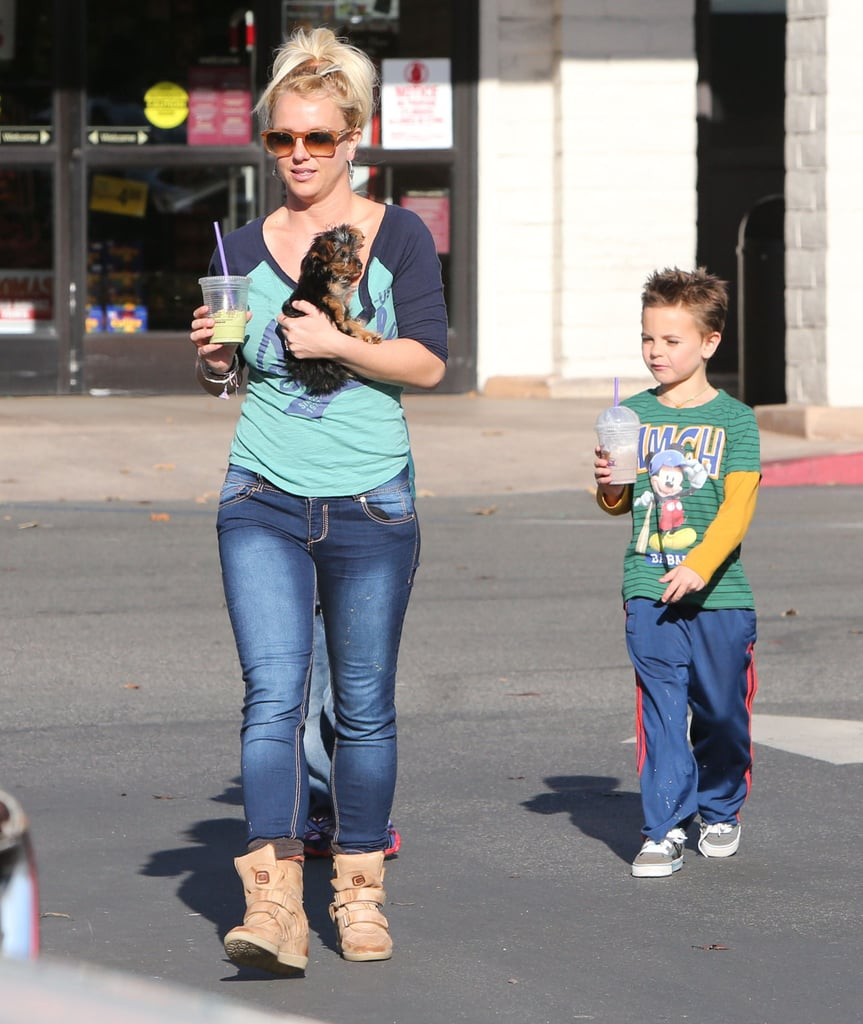 """Britney Spends Sunday With Her Boys — and Drops """"Scream & Shout"""" Today!"""
