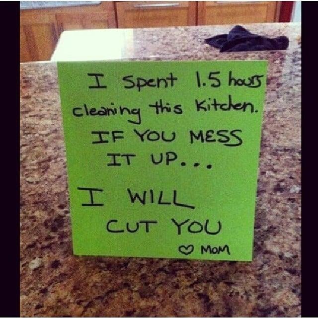 I Will Cut You. Love, Mom