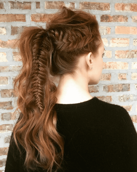 Fishtail Plait Ponytail Photos