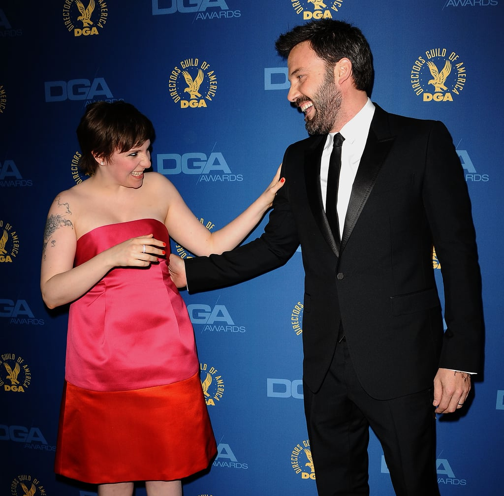 Ben Affleck had a moment with Lena Dunham on the Directors Guild of America Awards red carpet.