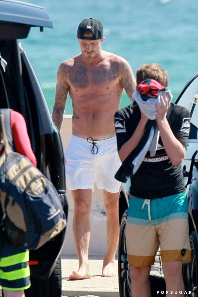 David Beckham Is Still a Superhot Dad