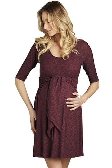 Maternal America Plum Front Tie Dress