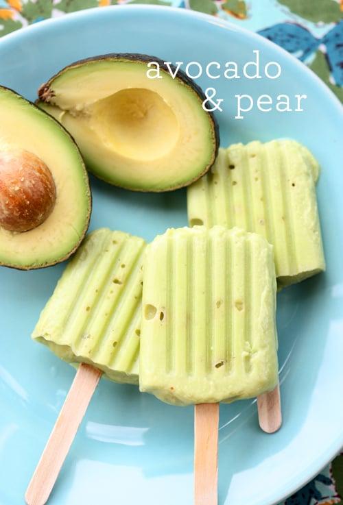 Avocado and Pear Pops