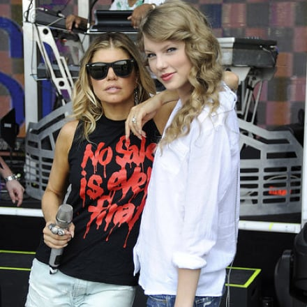 Taylor Swift and Fergie Pictures From Their Rained-Out Concert in NYC