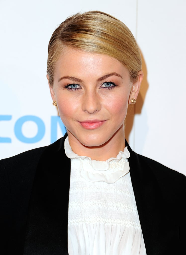 A side-parted, slicked ponytail made for a cute and casual look at the Fulfillment Fund Stars Gala late last year.