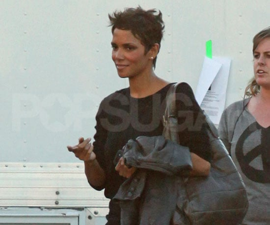 Slide Picture of Halle Berry Leaving the Set of Truth or Dare in LA