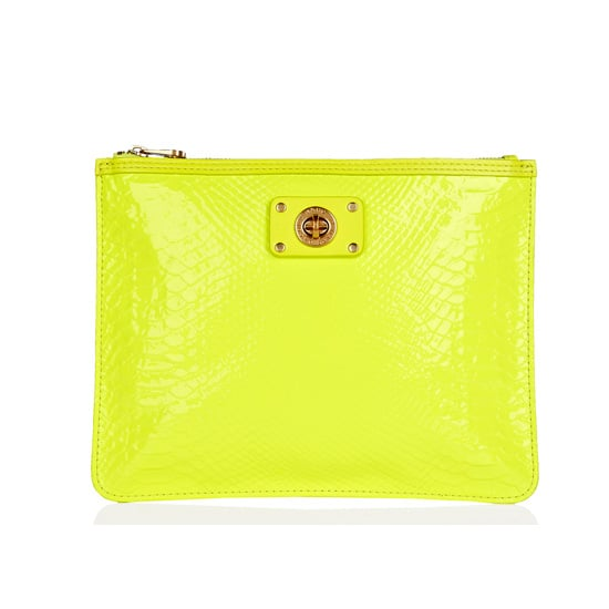Fluro Lime Oversized Zip Pouch