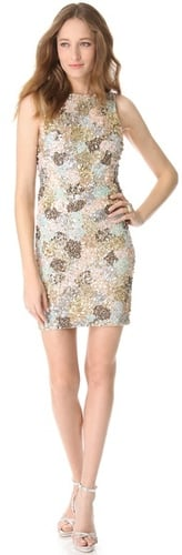 Alice + olivia Embellished Fitted Dress