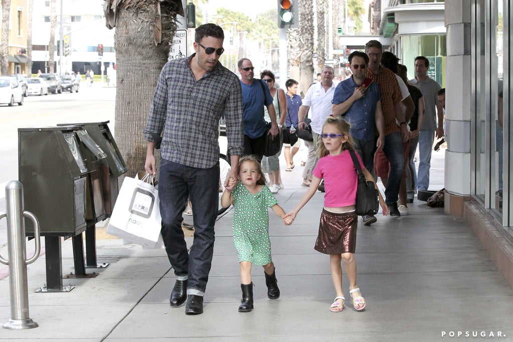 Ben Affleck, Violet Affleck, and Seraphina Affleck went shopping for a Nook in October at a bookstore near their LA home.