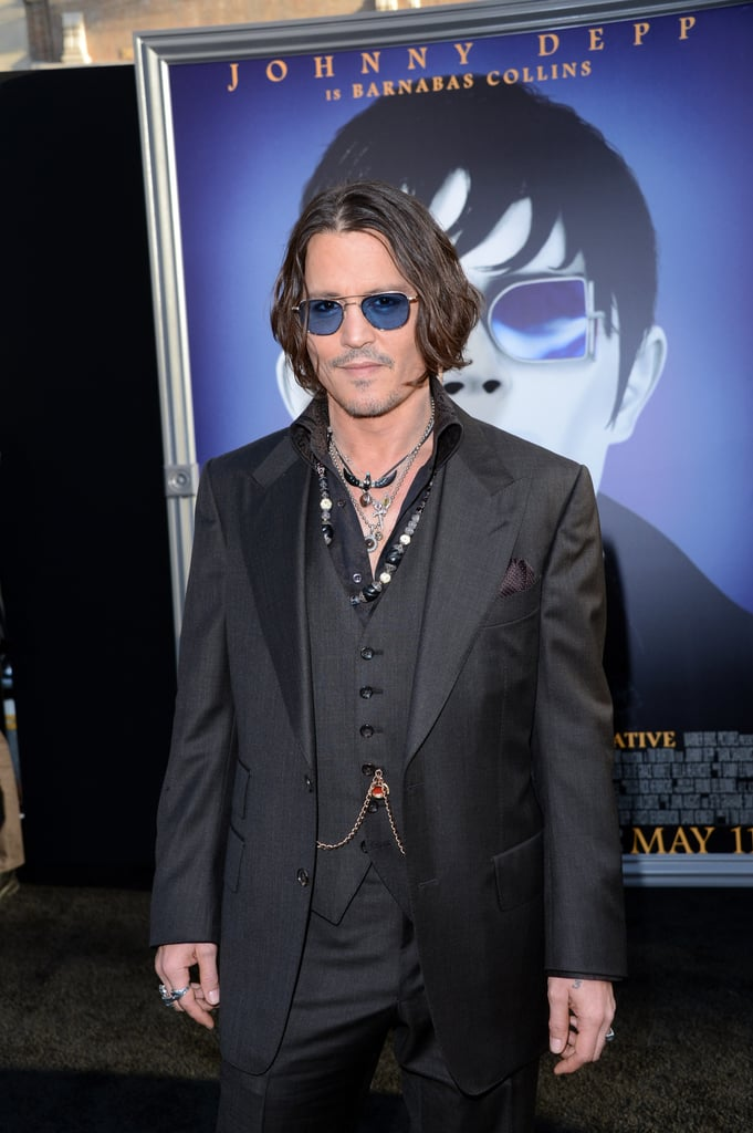 Johnny Depp arrived at the Dark Shadows premiere in LA.