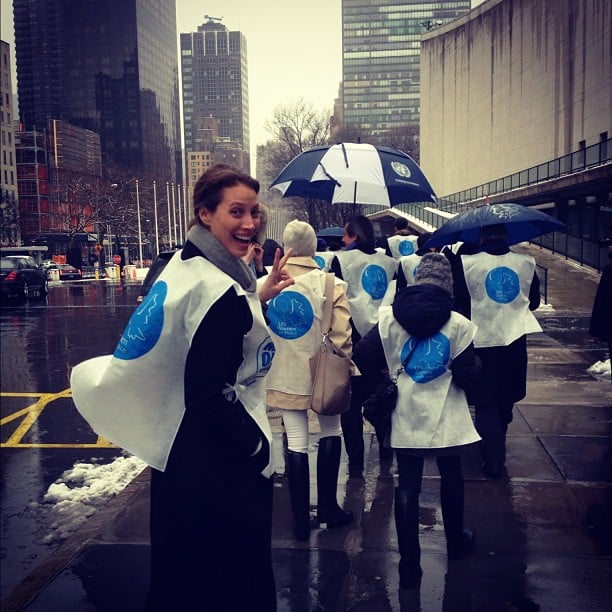 Christy Turlington joined the March For Peace in NYC. Source: Instagram user cturlington