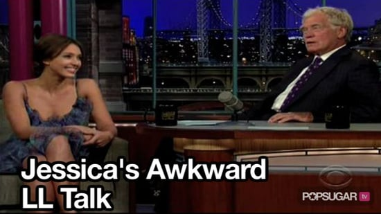 Video of Jessica Alba Talking With David Letterman About Lindsay Lohan