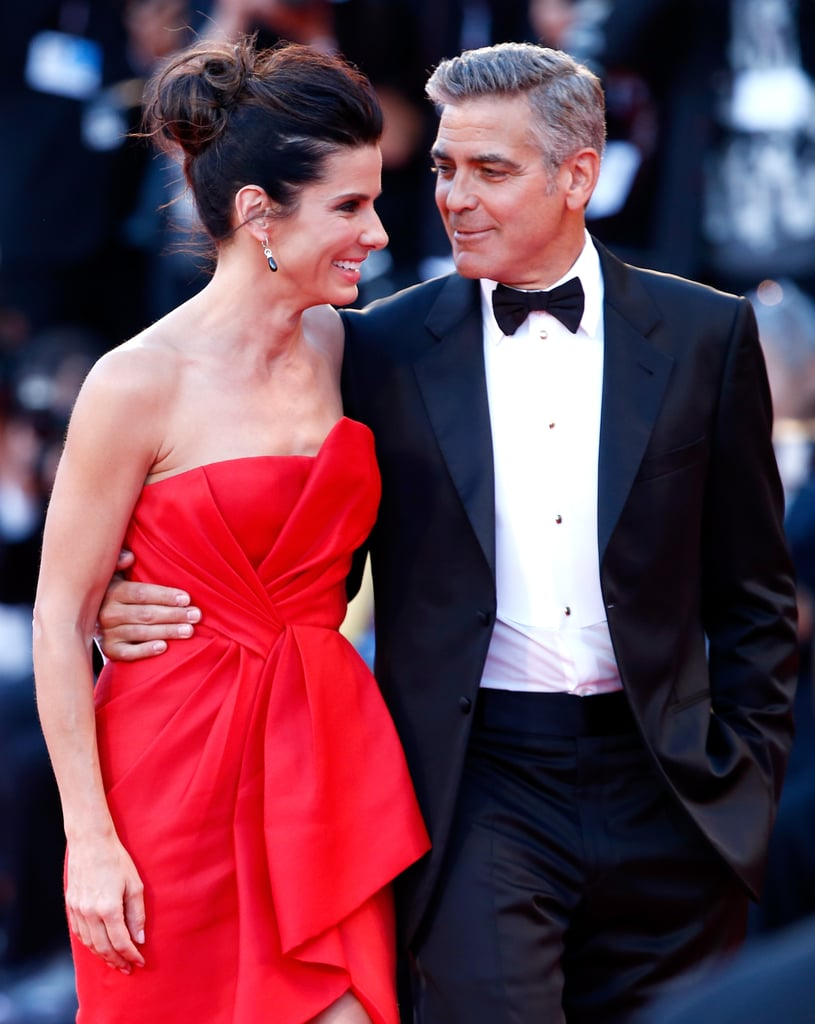 She and George Clooney made a stunning pair on the red carpet at the Venice Film Festival premiere of Gravity in August 2013.