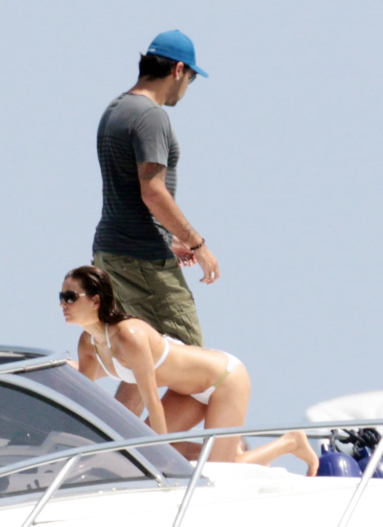 Eva Longoria and Eduardo Cruz relaxed on a yacht in Spain in July 2011.