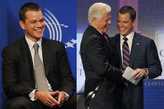 Photos of Matt Damon, Alicia Keys, Bill Clinton, And Barack Obama at The Clinton Global Initiative in NYC 2009-09-22 16:37:10