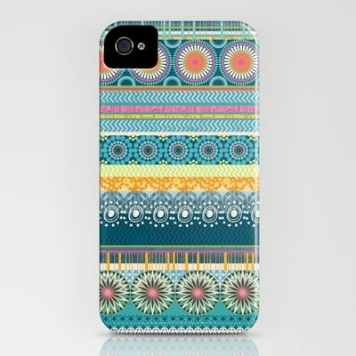 Blue Streaks by Amanda Dilworth Smartphone Case