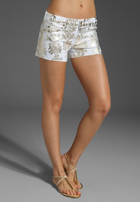 Look to these metallic brocade-print shorts for a burst of shine and texture. 7 For All Mankind Brocade Foil Block Print Denim Shorts ($125, originally $178)
