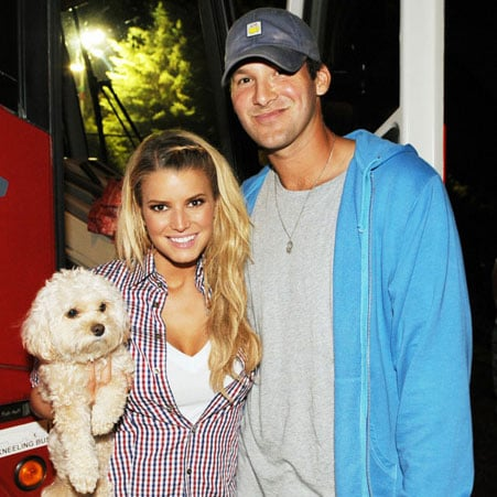 Photo of Jessica Simpson, Tony Romo and Daisy at 16th Annual Country Thunder Concert