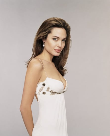 angelina in white dress