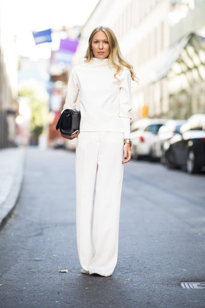 Dare to try a chic all-white look — and get noticed for all the right reasons.  Source: Le 21ème | Adam Katz Sinding