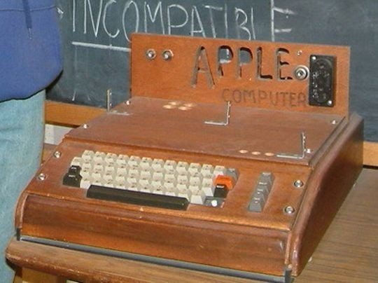The Apple 1 was the company's first computer and sold for the devilish price of $666.66. Source: WikiCommons