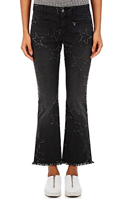 Stella McCartney Women's Frayed-Star Crop Flared Jeans-Black ($525)</p><p>