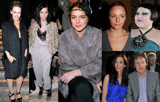 Photos of Celebrities at Paris Fashion Week Front Row Including Lindsay Lohan, Kylie Minogue, Paul McCartney, Thandie Newton 2010-03-09 04:00:00
