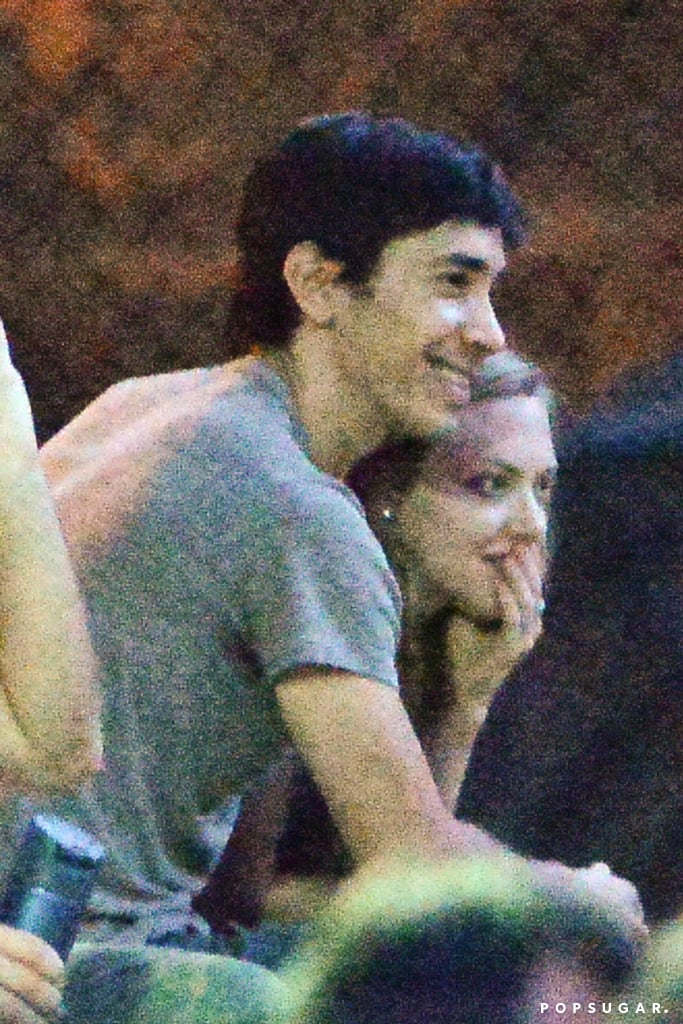 Justin Long and Amanda Seyfried spent a romantic evening in the park.