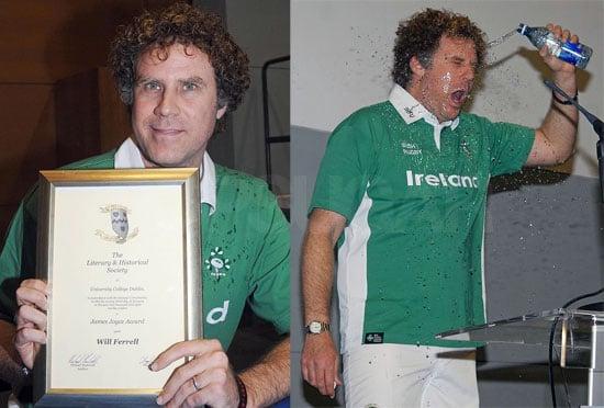Will Ferrell Receives the James Joyce Award in Dublin