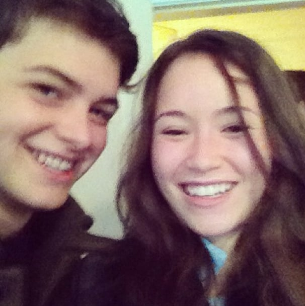 Israel Broussard and Katie Chang got ahold of Claire Julien's phone and snapped a selfie.  Source: Instagram user clairejulien