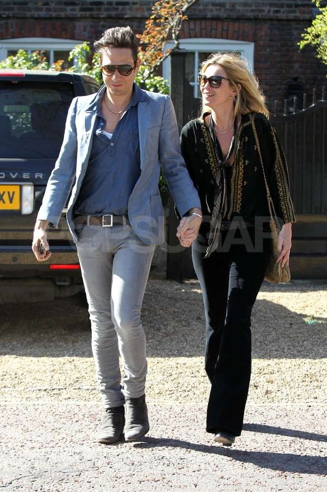Kate Moss and Jamie Hince leaving their home in London.