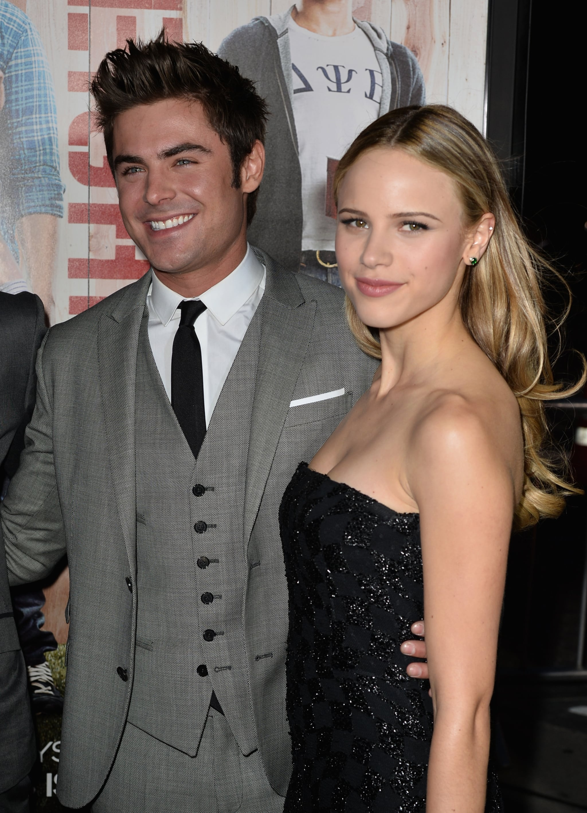 He cozied up with girlfriend Halston Sage.