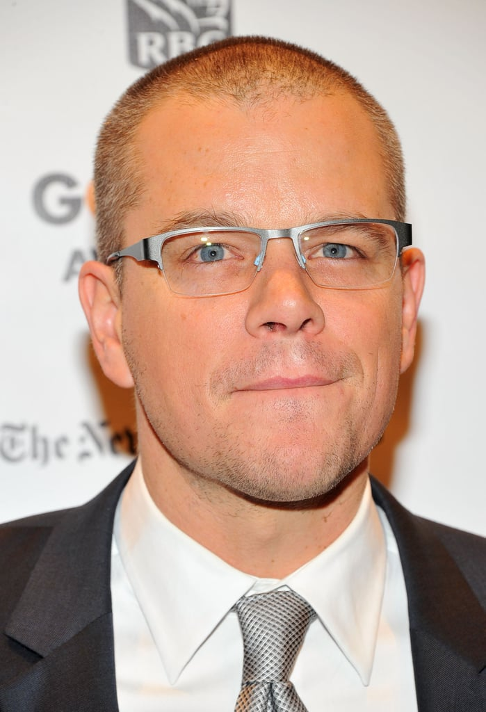 Matt Damon wore glasses while out in NYC.