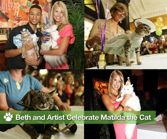 Photos of Beth Ostrosky and Artist From Groomer Has It at Matilda the Cat's Birthday Party